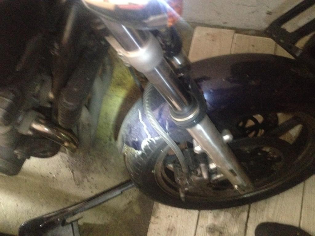Oprava bourané motorky