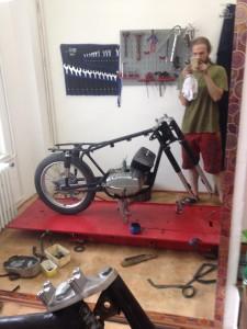 Renovace motocyklu ČZ 250/471