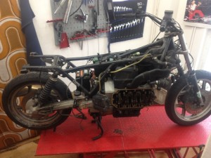 Přestavba motocyklu - BMW K100